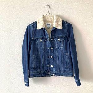 Sherpa trucker jean jacket XS